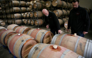 Barrels in Winemaking